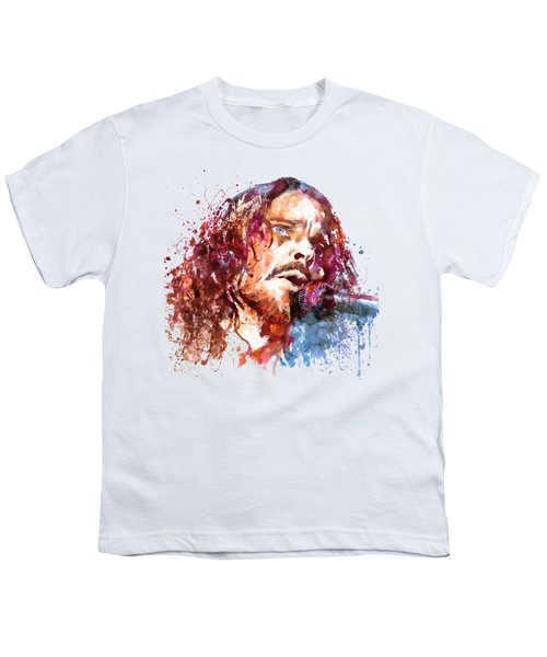 Chris Cornell Youth T-Shirt by Marian Voicu