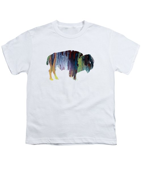 Colorful Bison Youth T-Shirt by Mordax Furittus
