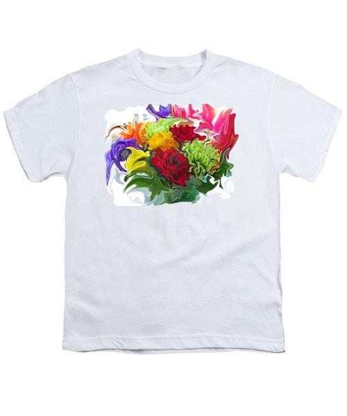 Colorful Bouquet Youth T-Shirt by Kathy Moll