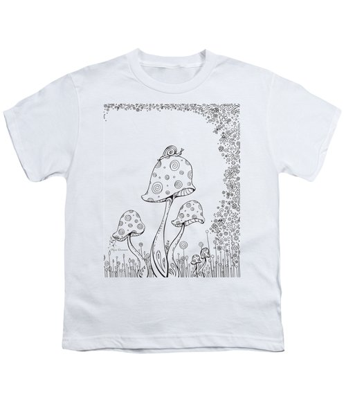 Coloring Page With Beautiful In The Garden 8 Drawing By Megan Duncanson Youth T-Shirt by Megan Duncanson