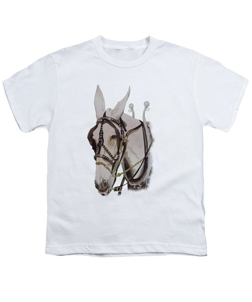 Connie The Mule Youth T-Shirt by Gary Thomas