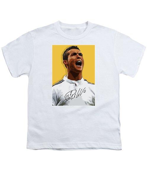 Cristiano Ronaldo Cr7 Youth T-Shirt by Semih Yurdabak