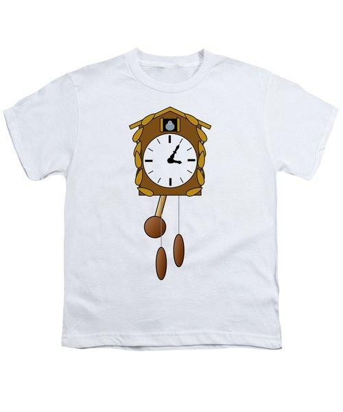 Cuckoo Clock Youth T-Shirt by Miroslav Nemecek