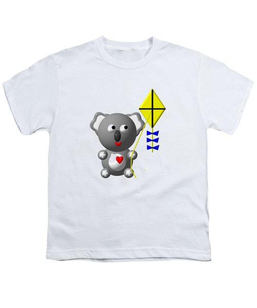 Cute Koala With Kite Youth T-Shirt by Rose Santuci-Sofranko