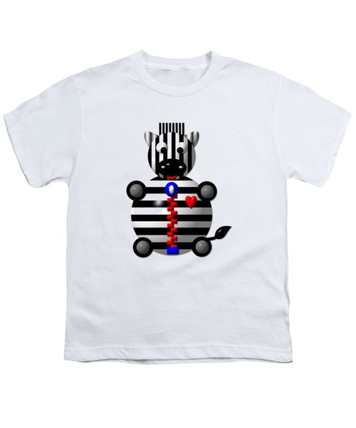 Cute Zebra With A Zipper Youth T-Shirt by Rose Santuci-Sofranko