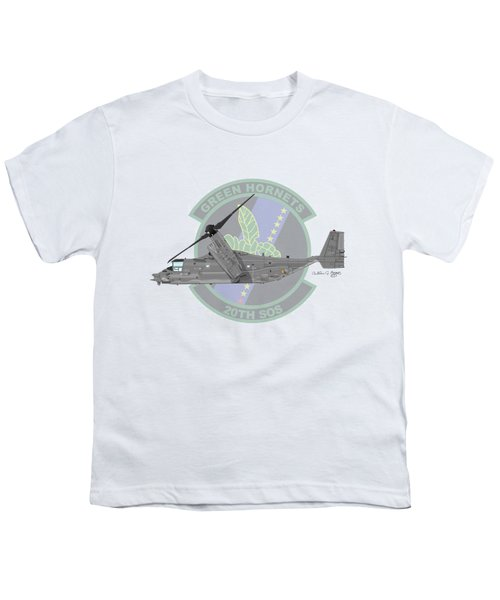 Cv-22b Osprey 20sos Youth T-Shirt by Arthur Eggers