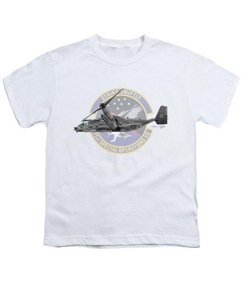 Cv-22b Osprey 71sos Youth T-Shirt by Arthur Eggers
