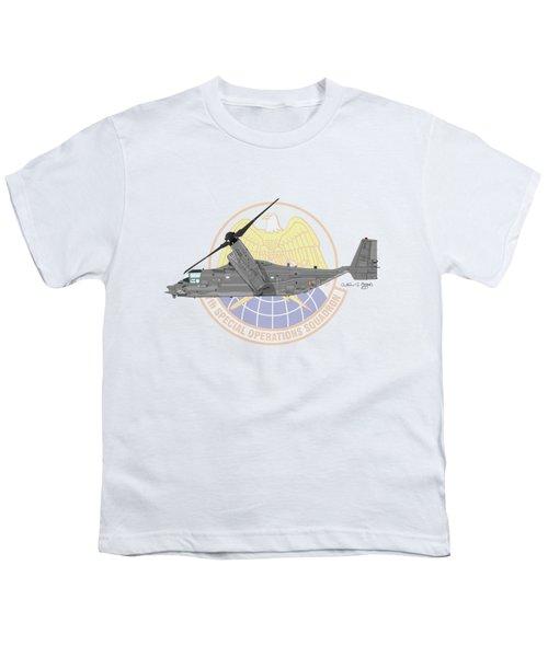 Cv-22b Osprey 7sos Youth T-Shirt by Arthur Eggers