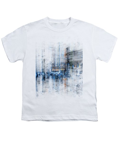 Cyber City Design Youth T-Shirt by Martin Capek