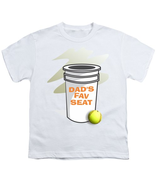 Dad's Fav Seat Youth T-Shirt by Jerry Watkins