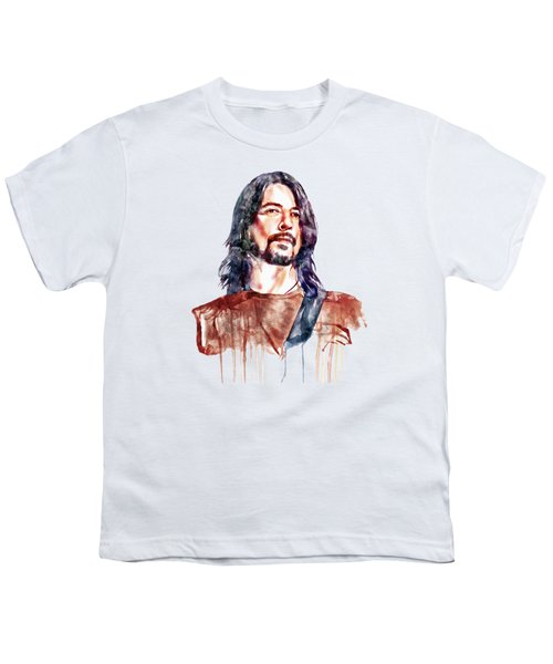 Dave Grohl  Youth T-Shirt by Marian Voicu