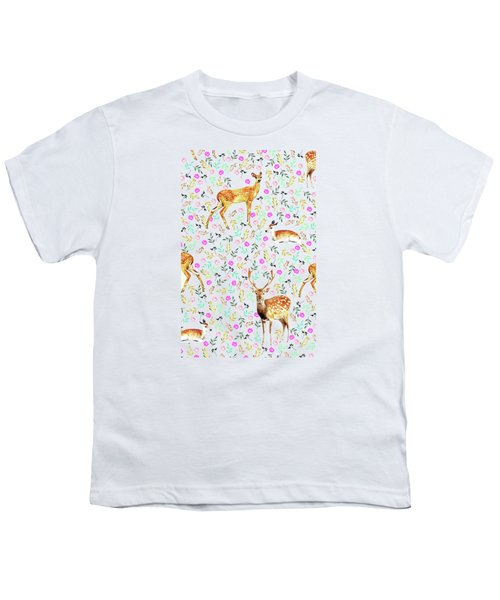 Deers Youth T-Shirt by Uma Gokhale
