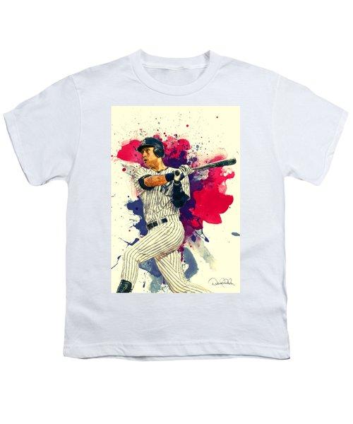 Derek Jeter Youth T-Shirt by Taylan Apukovska
