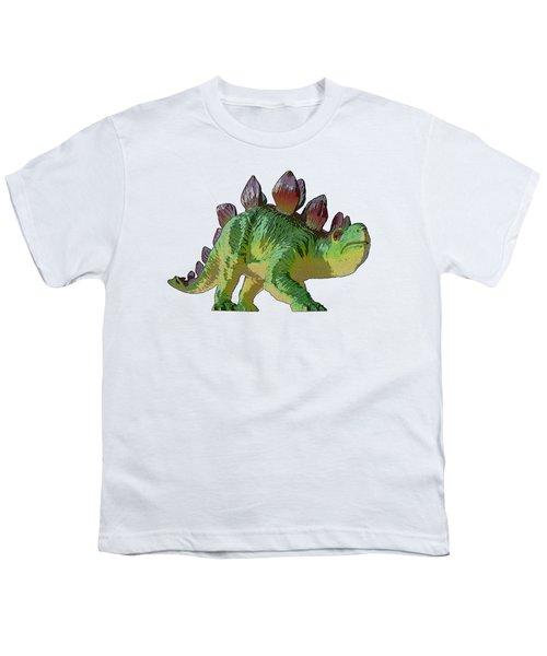 Dino Stegosaurus Youth T-Shirt by Miroslav Nemecek
