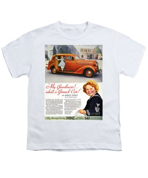 Dodge Automobile Ad, 1936 Youth T-Shirt by Granger
