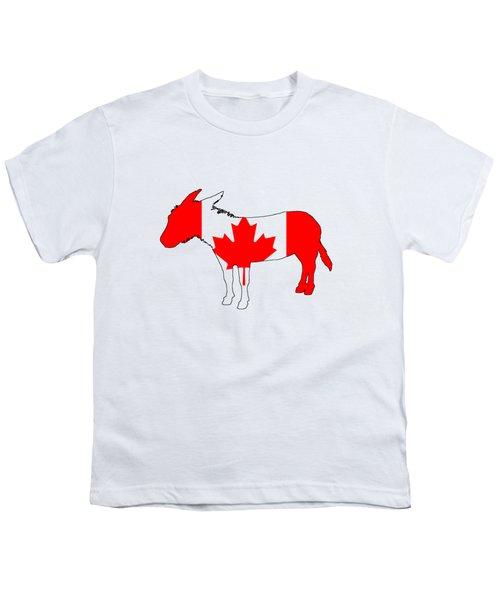 Donkey Canada Youth T-Shirt by Mordax Furittus