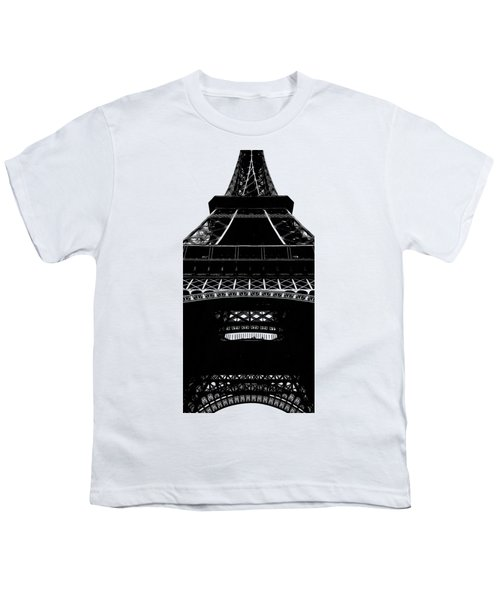 Eiffel Tower Paris Graphic Phone Case Youth T-Shirt by Edward Fielding