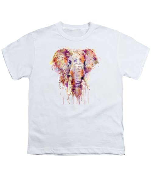 Elephant  Youth T-Shirt by Marian Voicu