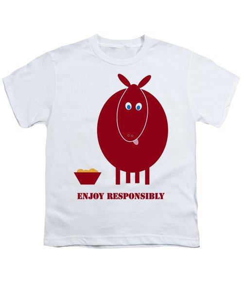 Enjoy Responsibly Youth T-Shirt by Frank Tschakert