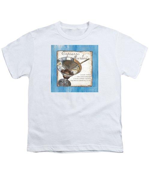 Espresso Martini Youth T-Shirt by Debbie DeWitt