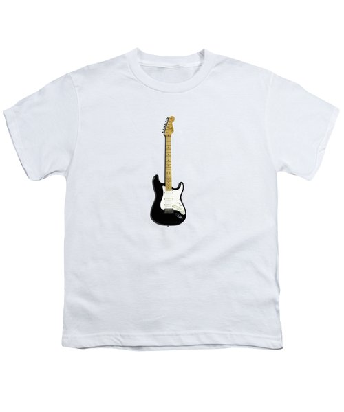 Fender Stratocaster Blackie 77 Youth T-Shirt by Mark Rogan