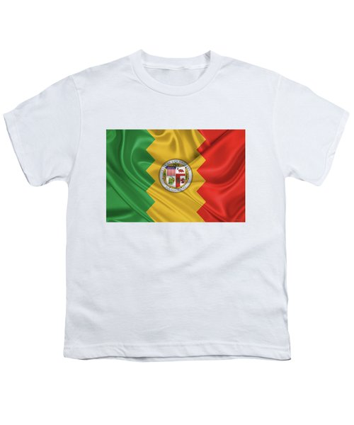 Flag Of The City Of Los Angeles Youth T-Shirt by Serge Averbukh