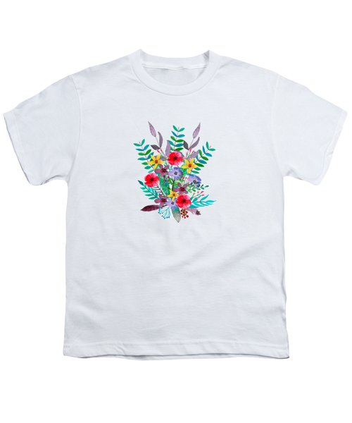 Floral Bouquet Youth T-Shirt by Amanda Lakey