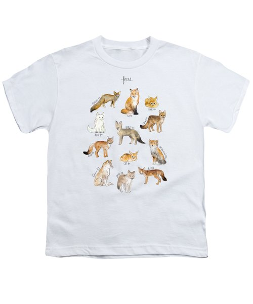 Foxes Youth T-Shirt by Amy Hamilton