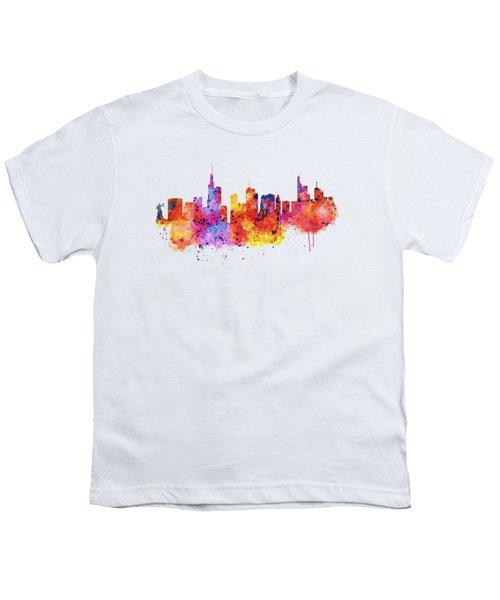 Frankfurt Skyline Youth T-Shirt by Marian Voicu