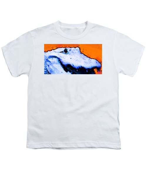 Gator Art - Swampy Youth T-Shirt by Sharon Cummings