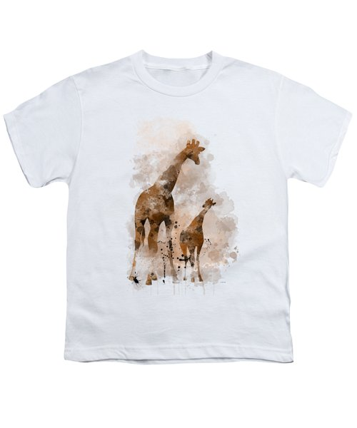 Giraffe And Baby Youth T-Shirt by Marlene Watson