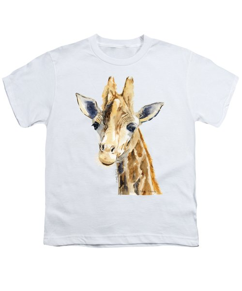 Giraffe Watercolor Youth T-Shirt by Melly Terpening