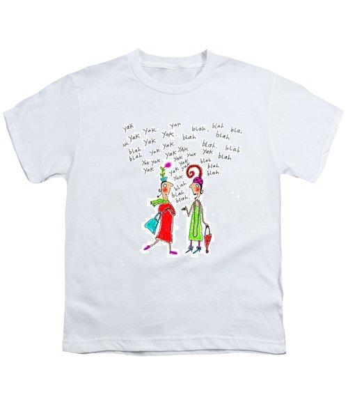 Girl Talk Youth T-Shirt by Karon Melillo DeVega