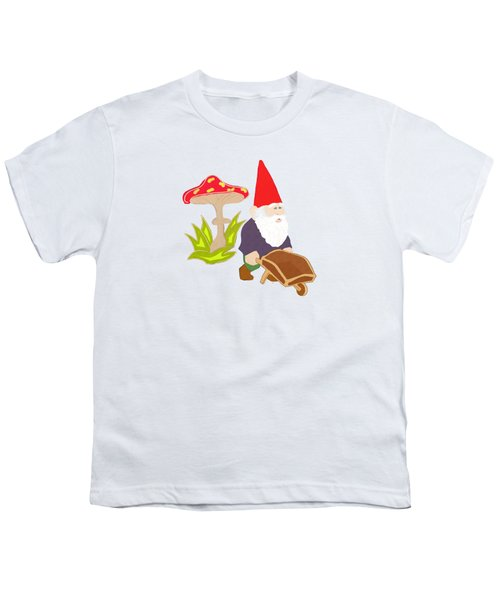 Gnome Garden Youth T-Shirt by Priscilla Wolfe