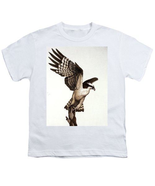 Going Fishin' Osprey Youth T-Shirt by Pat Erickson