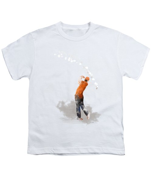 Golfer 1 Youth T-Shirt by Marlene Watson