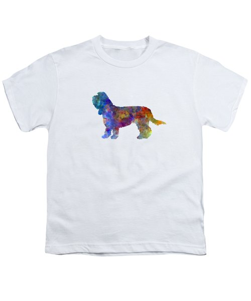 Grand Basset Griffon Vendeen In Watercolor Youth T-Shirt by Pablo Romero