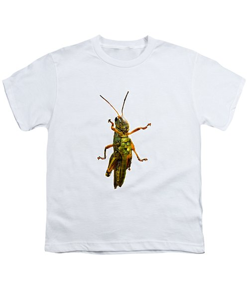 Grasshopper II Youth T-Shirt by Gary Adkins