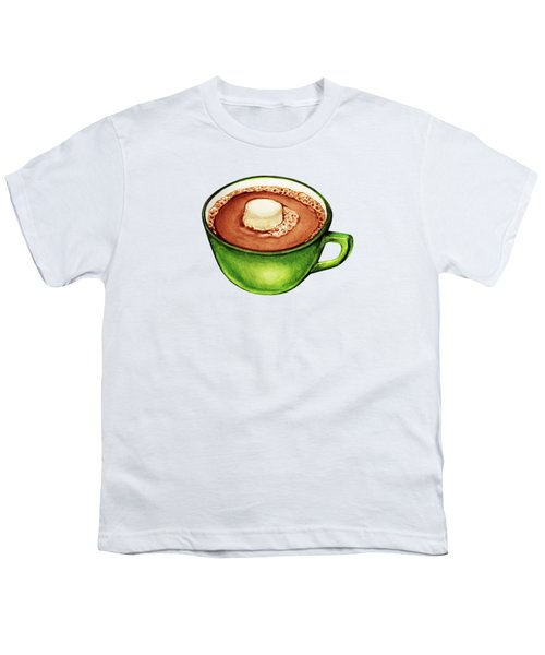 Hot Cocoa Pattern Youth T-Shirt by Kelly Gilleran