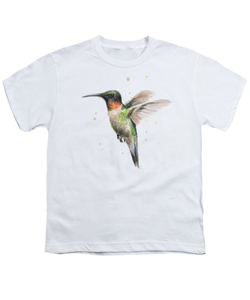 Hummingbird Youth T-Shirt by Olga Shvartsur