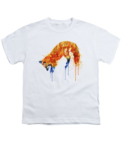 Hunting Fox  Youth T-Shirt by Marian Voicu