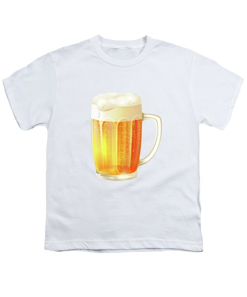Ice Cold Beer Pattern Youth T-Shirt by Little Bunny Sunshine