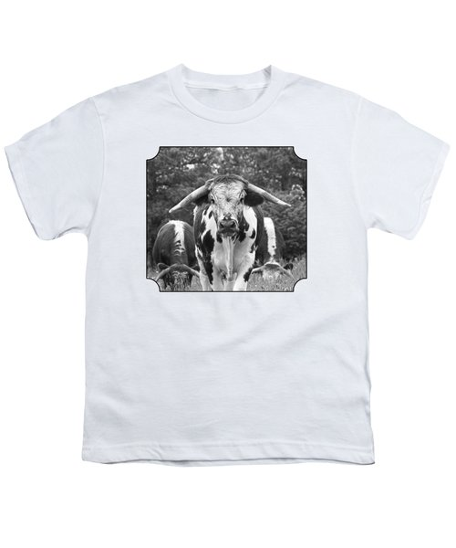 I'm In Charge Here - Black And White Youth T-Shirt by Gill Billington