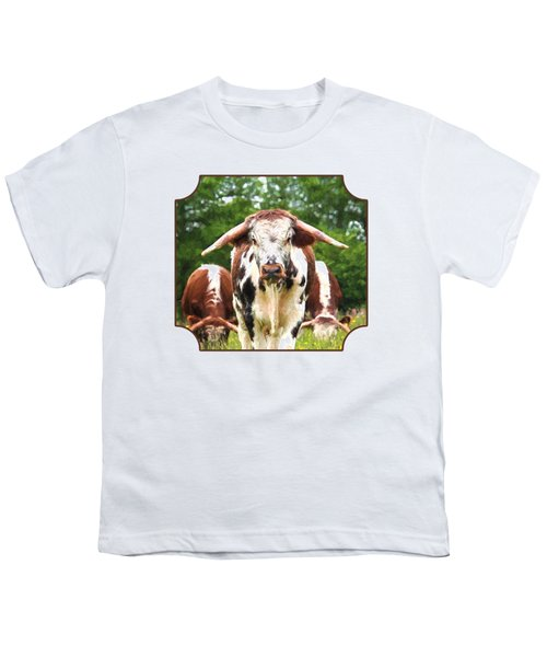 I'm In Charge Here Youth T-Shirt by Gill Billington