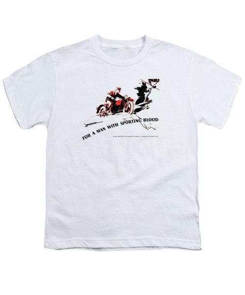 Indian Motorcycle - Sporting Blood 1930 Youth T-Shirt by Mark Rogan
