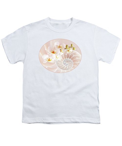 Intimate Fusion In Soft Pink Youth T-Shirt by Gill Billington