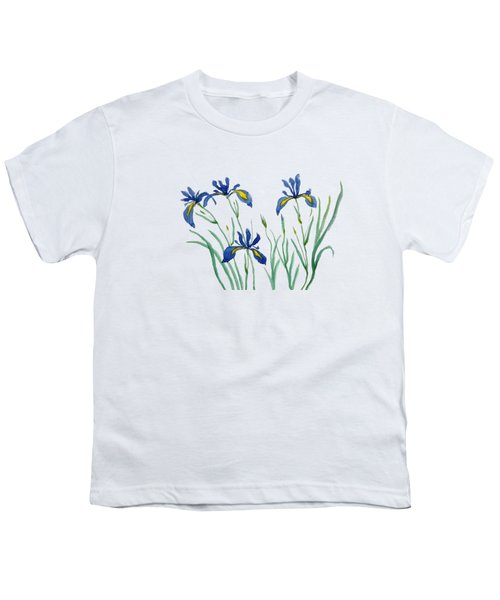 Iris In Japanese Style Youth T-Shirt by Color Color