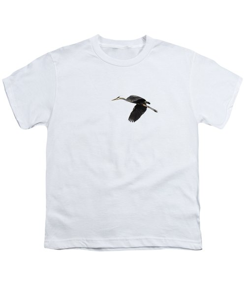 Isolated Great Blue Heron 2015-1 Youth T-Shirt by Thomas Young