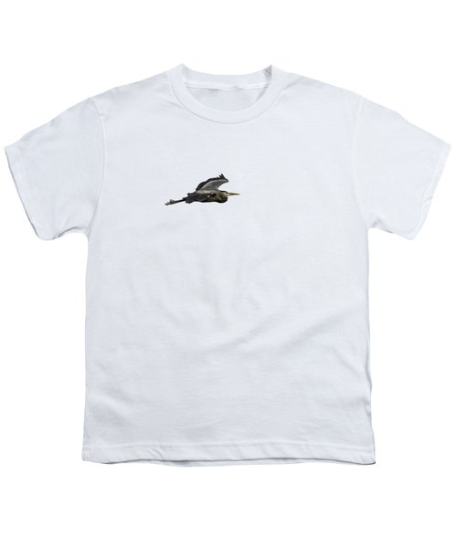 Isolated Great Blue Heron 2015-2 Youth T-Shirt by Thomas Young