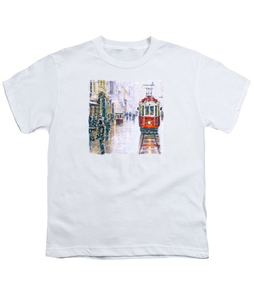 Istanbul Nostalgic Tramway Youth T-Shirt by Marian Voicu
